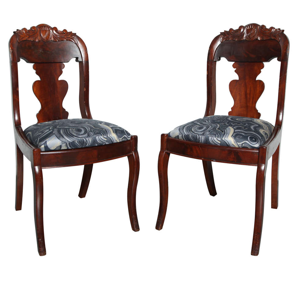 19th Century Victorian Hall Chairs 1
