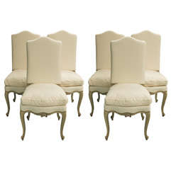 Set of Six 19th C Louis XV Dining Chairs