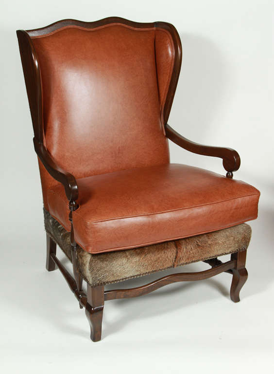 Vintage Wing Chair and Ottoman at 1stdibs
