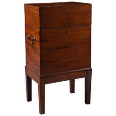 19th Century English Mahogany Cellarette on Stand