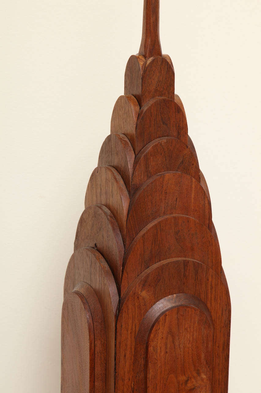 Large wooden sculpture of the chrysler building at stdibs