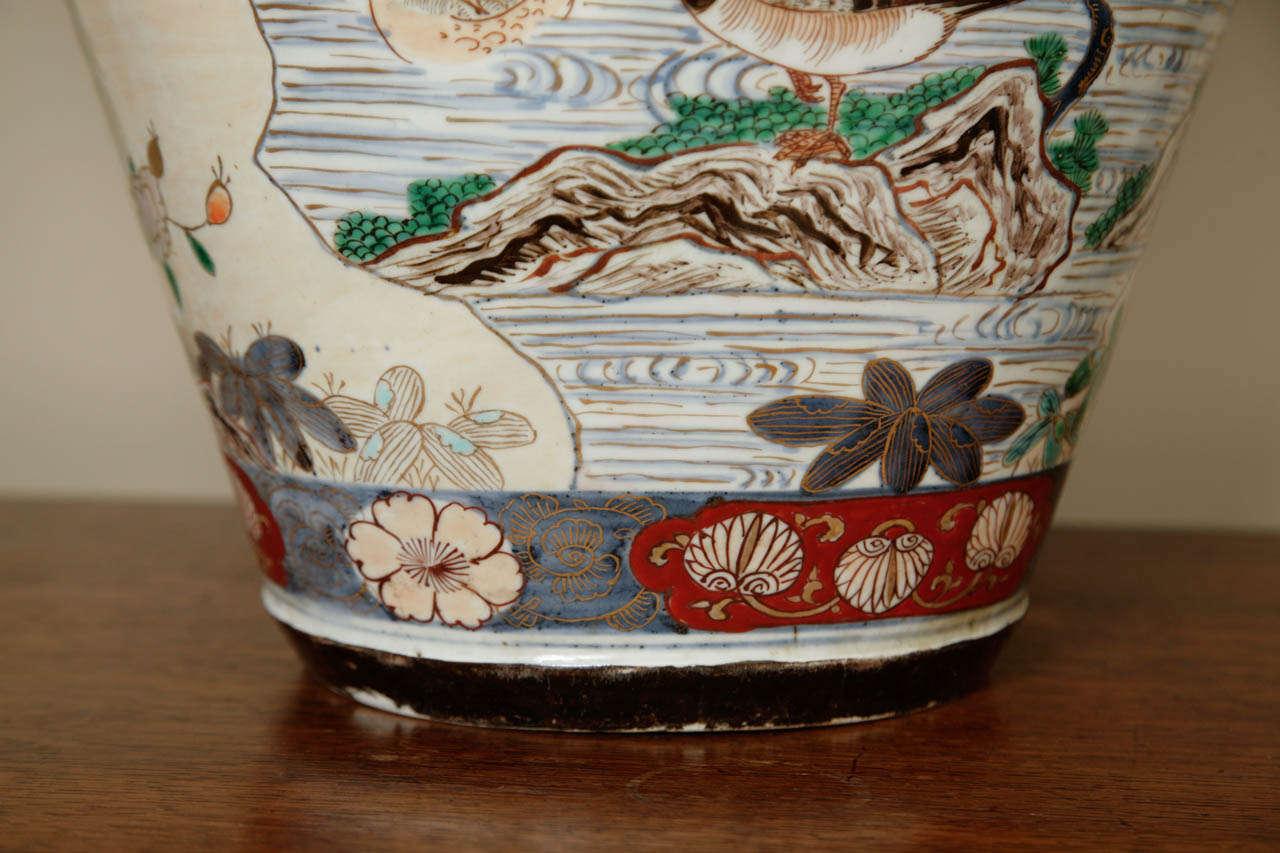 Porcelain  Early 18th Century Japanese Imari Vase For Sale