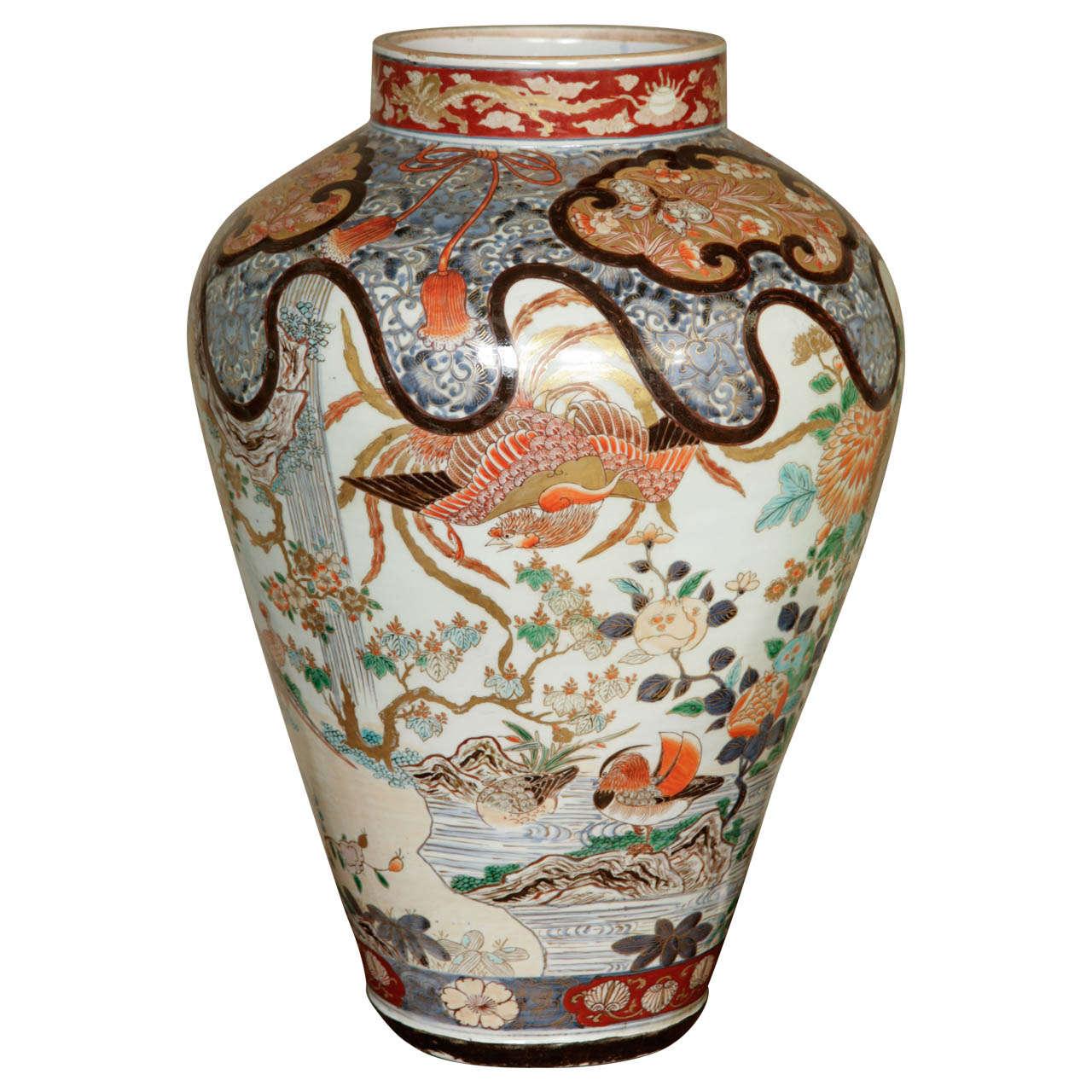 Early 18th Century Japanese Imari Vase For Sale
