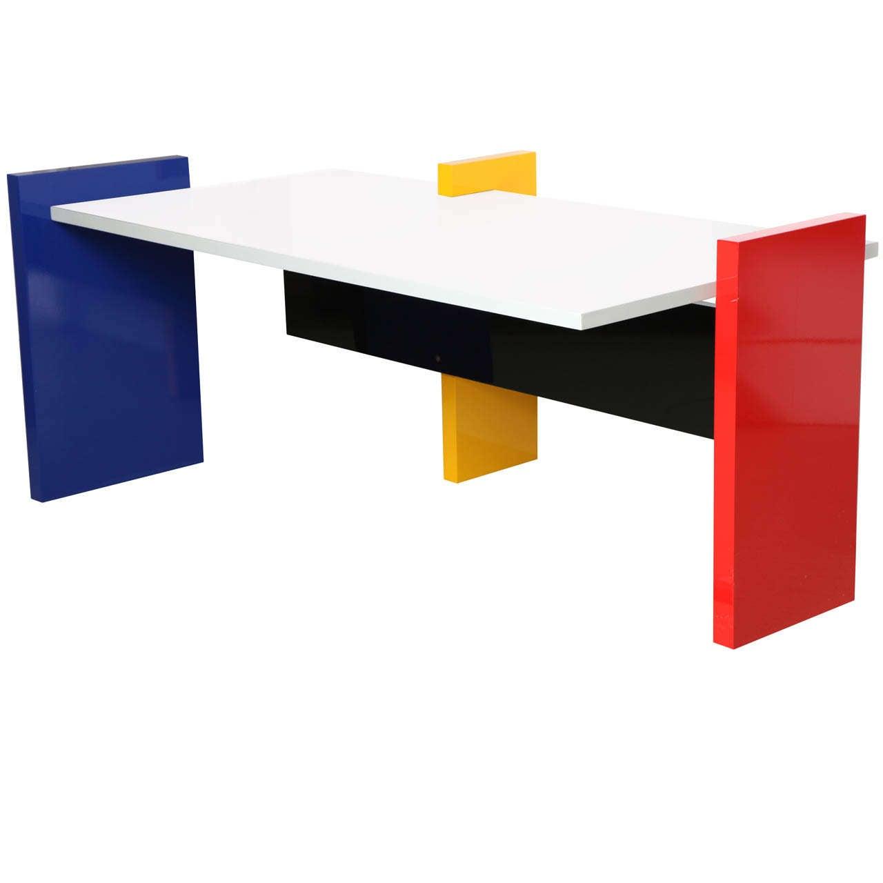 Hommage A Mondrian Desk By Danilo Silvestrin At 1stdibs