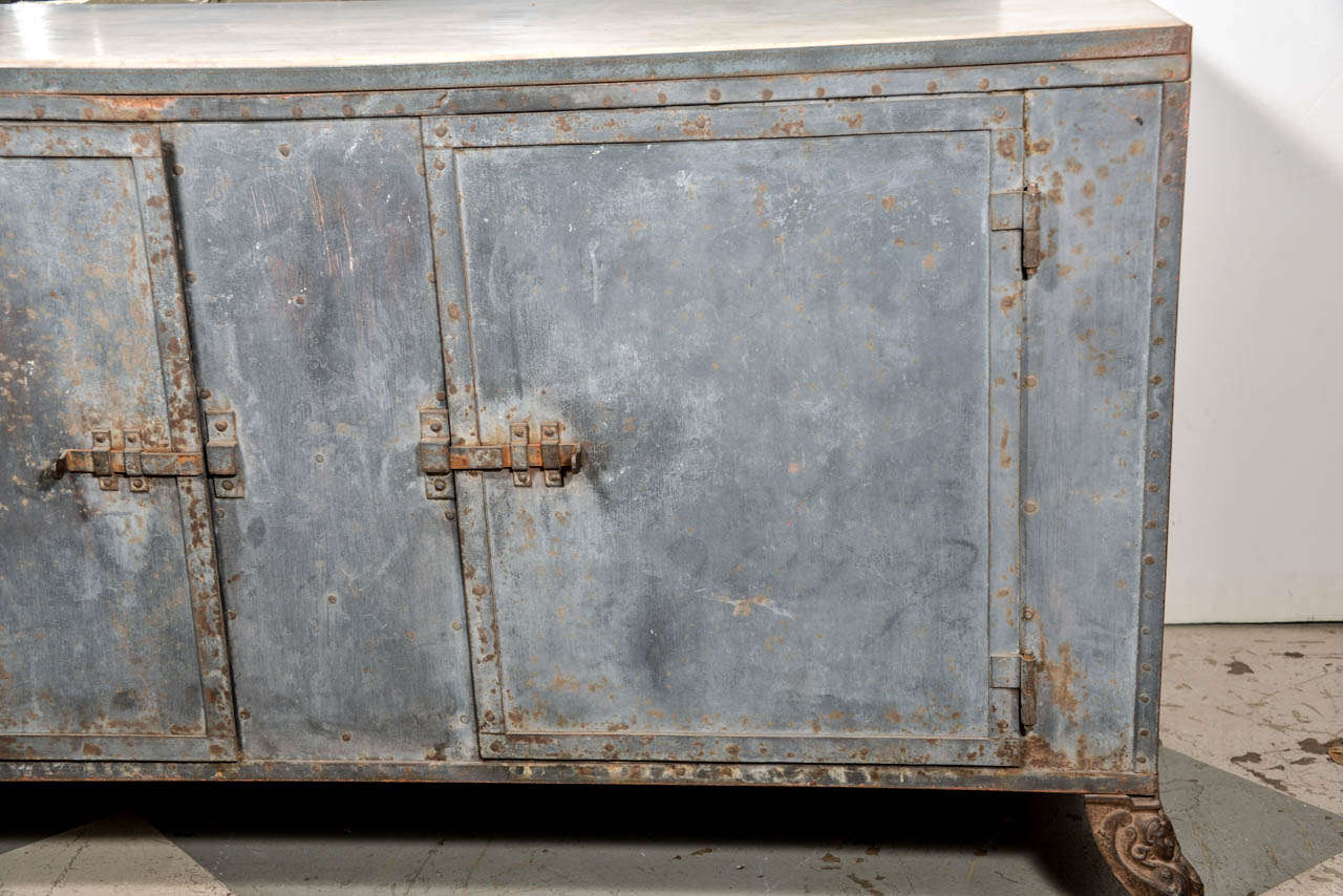 Italian Metal Cabinet In Good Condition For Sale In Houston, TX