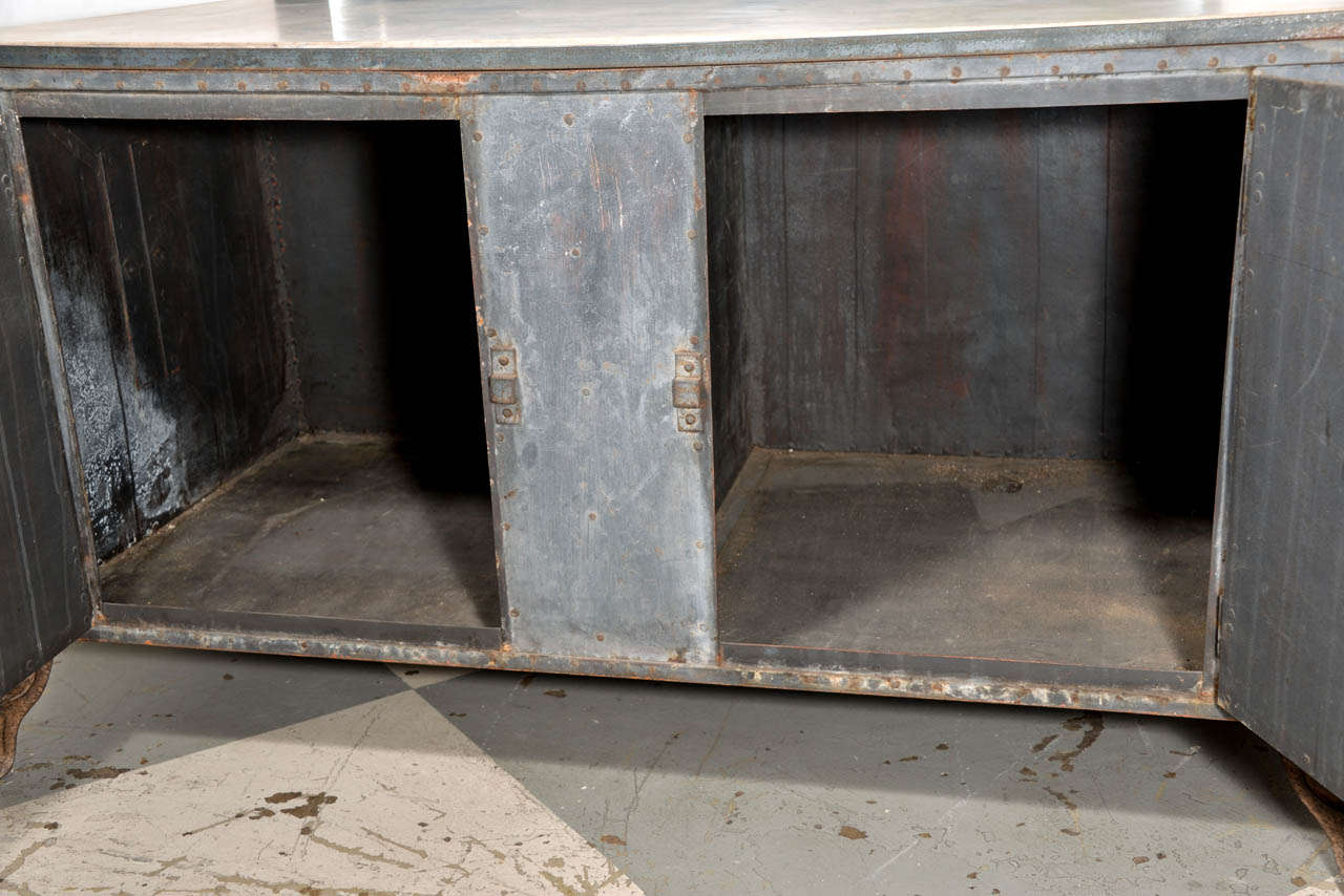 20th Century Italian Metal Cabinet For Sale