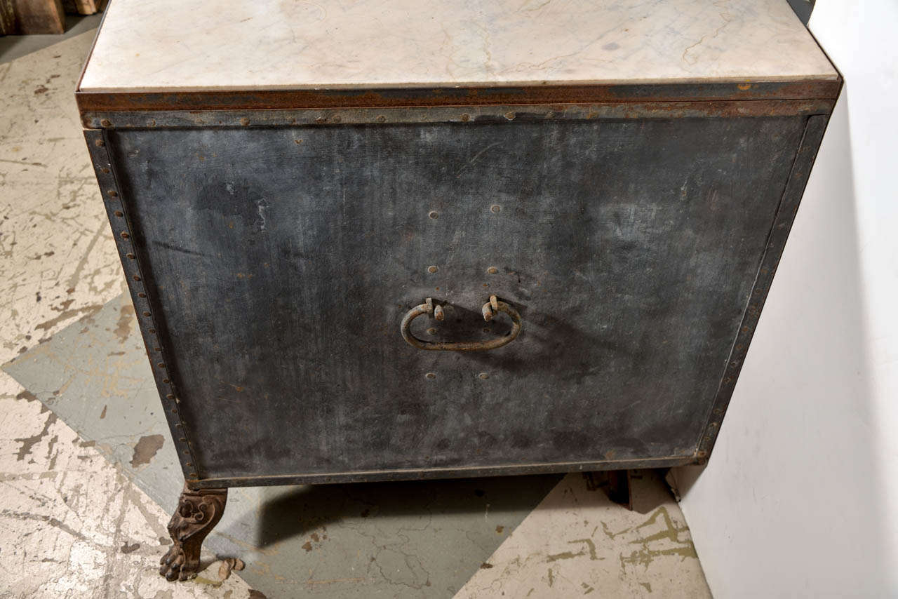 Italian Metal Cabinet For Sale 1