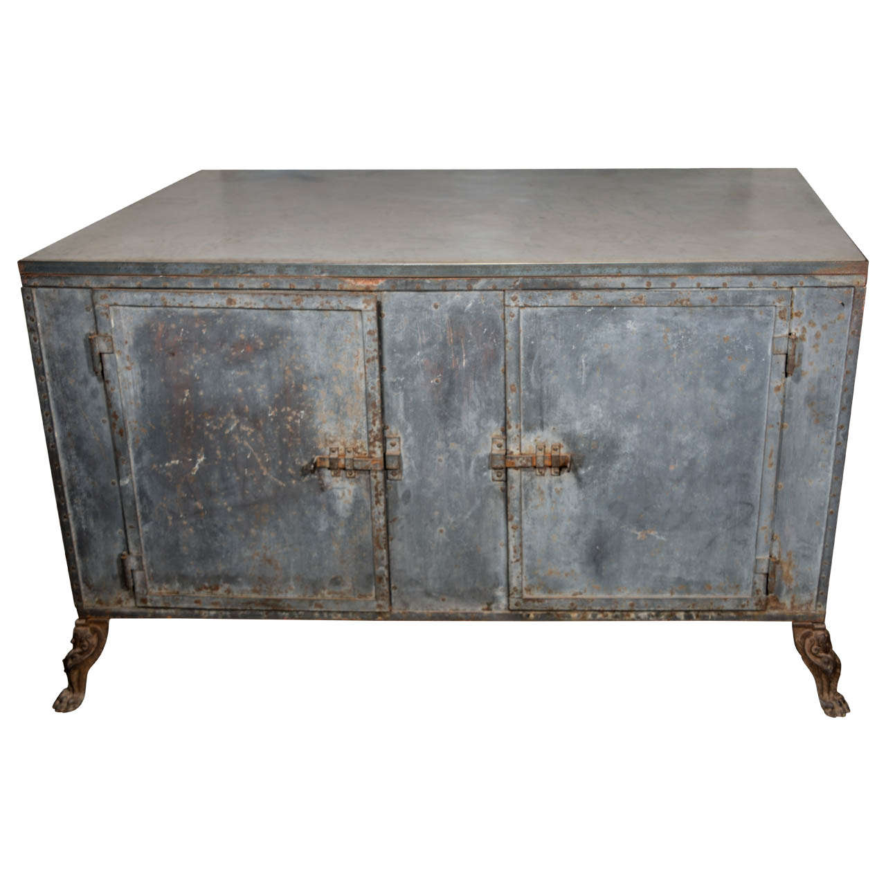 Italian Metal Cabinet For Sale