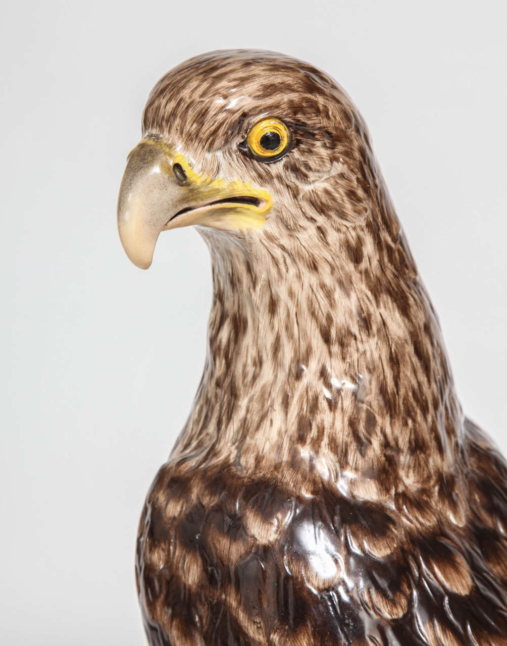 German Large, Impressive and Rare Meissen Porcelain Model of an Eagle, circa 1880 For Sale