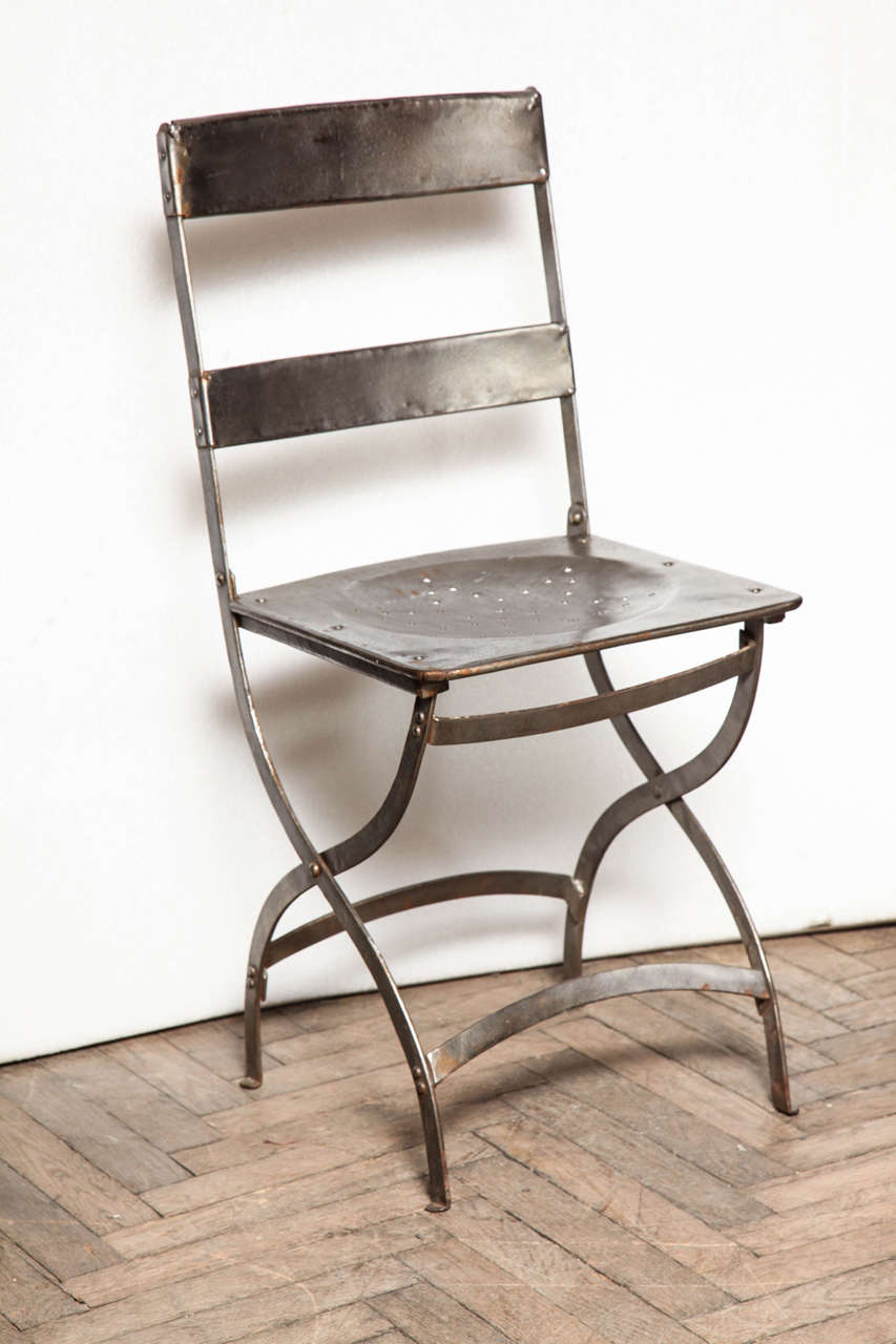 French Folding Bistro Chairs at 1stdibs