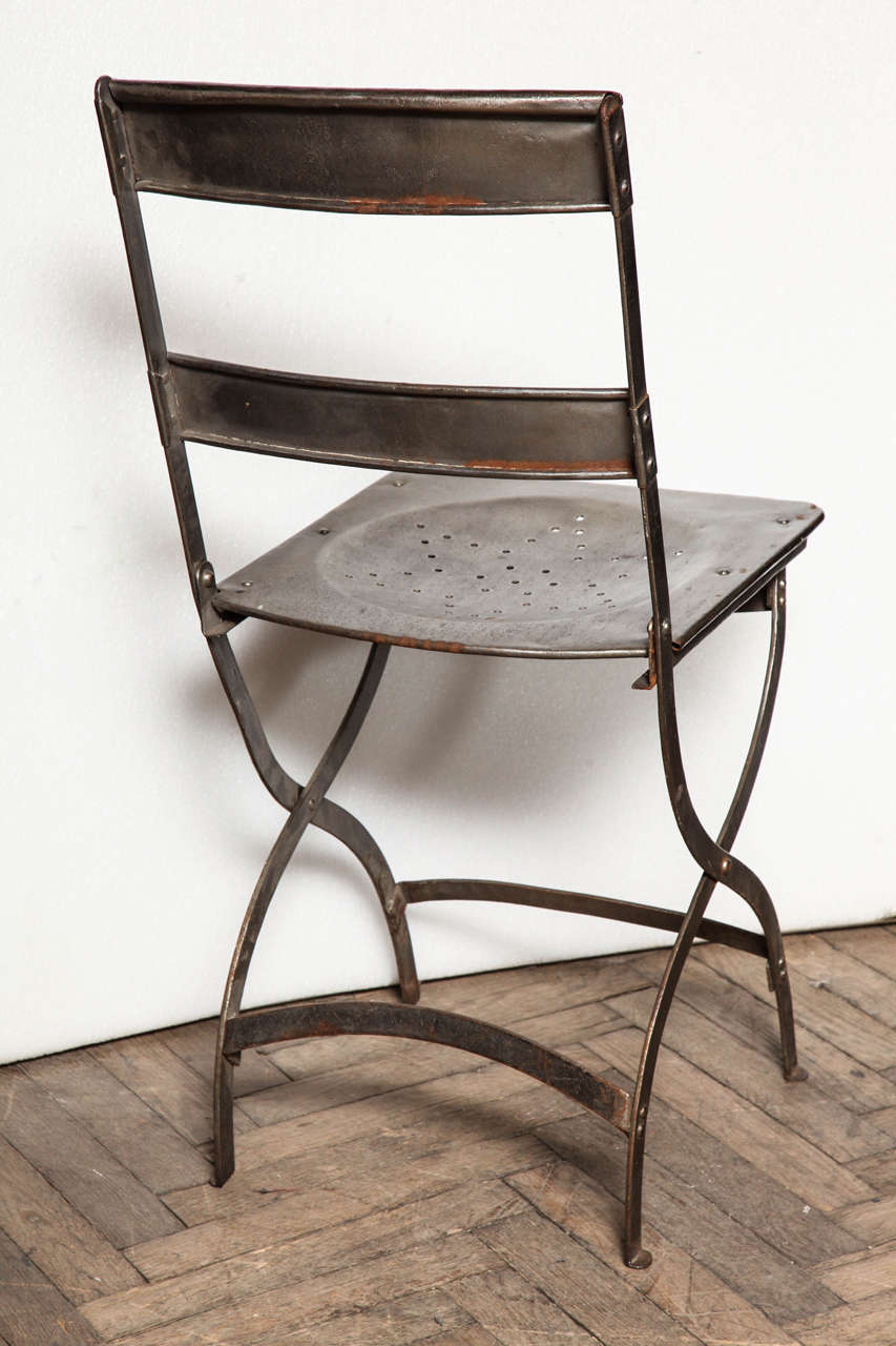 French Folding Bistro Chairs For Sale at 1stdibs