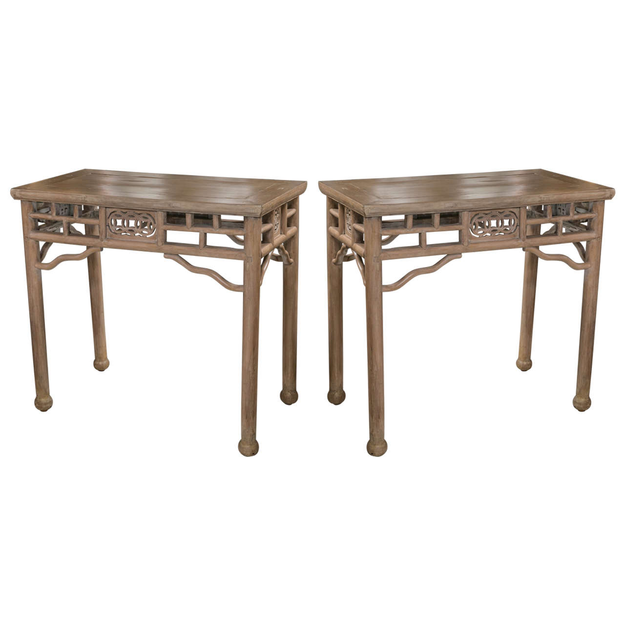 Pair antique chinese console tables at 1stdibs pair antique chinese console tables 1 geotapseo Gallery
