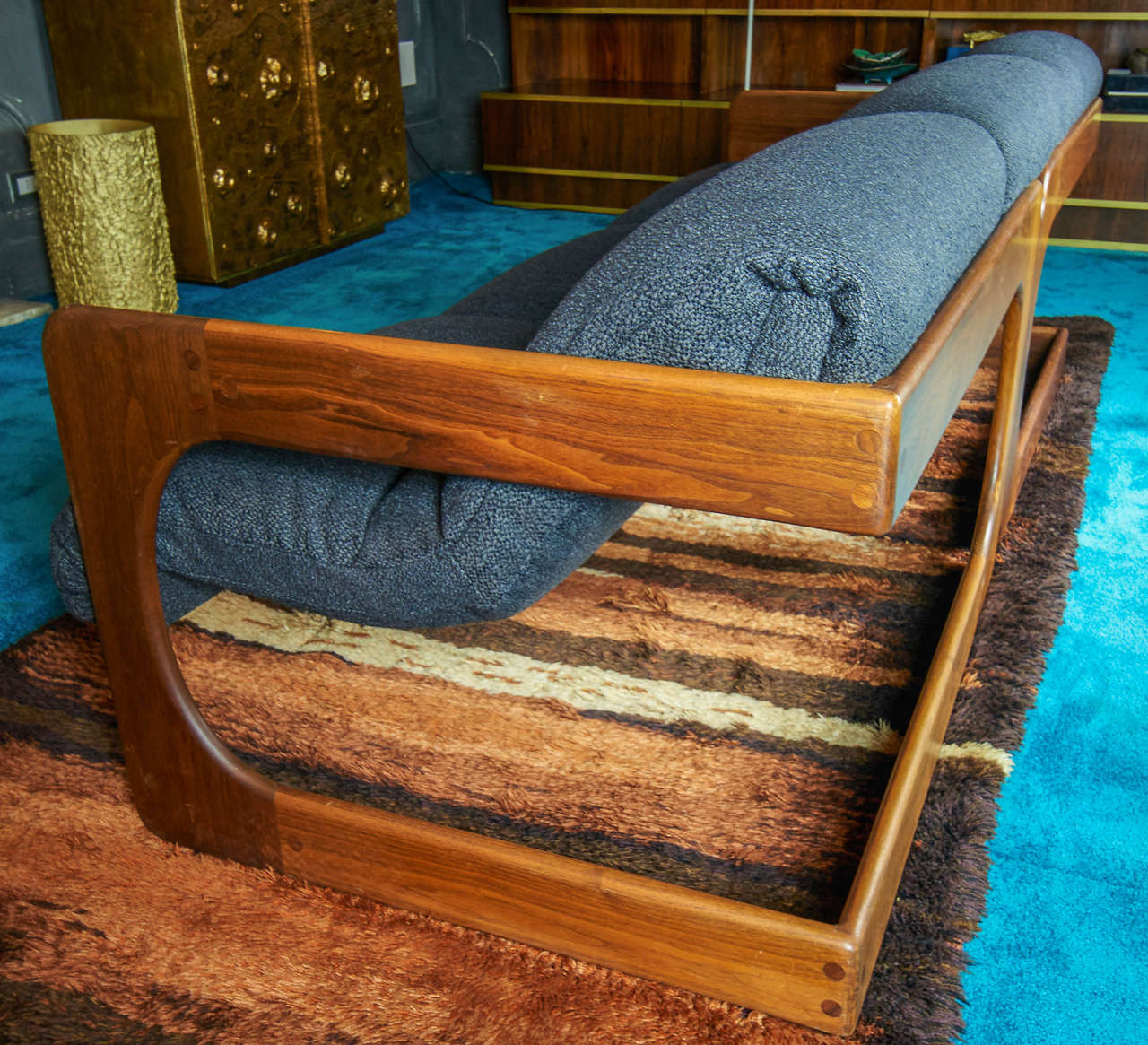 1970s Modern Home Architecture: Lou Hodges 1970s Mid-Century Modern Sofa At 1stdibs