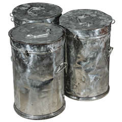 Metal Factory Candy Bins or Stools