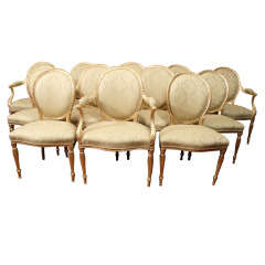 A Set Of Twelve English Giltwood Chairs