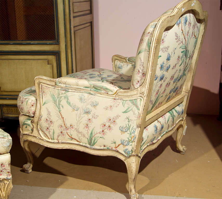 French louis xv style chaise lounge attrib to jansen at for Chaises louis xv cannees