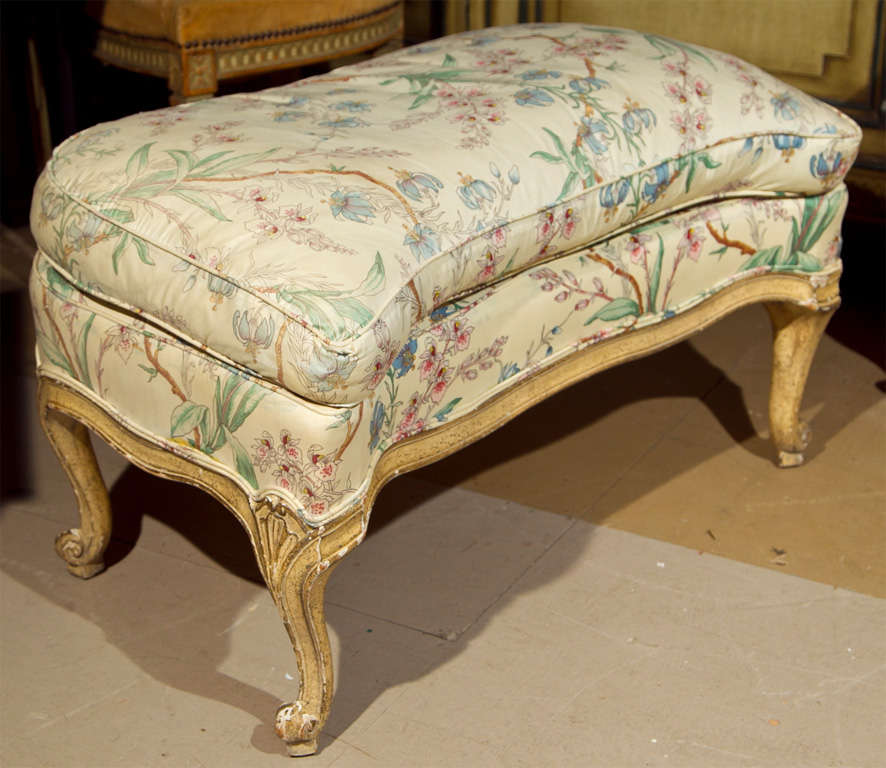 French louis xv style chaise lounge attrib to jansen at for Chaise louis xv