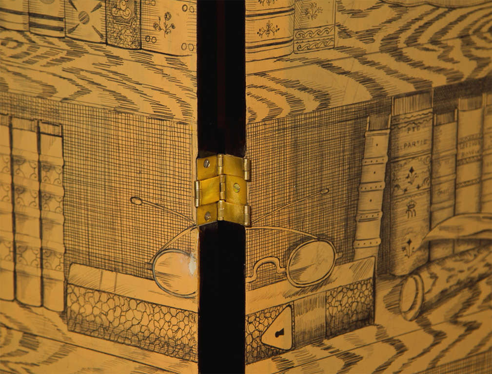 Fornasetti Style Three-Panel Screen For Sale 2