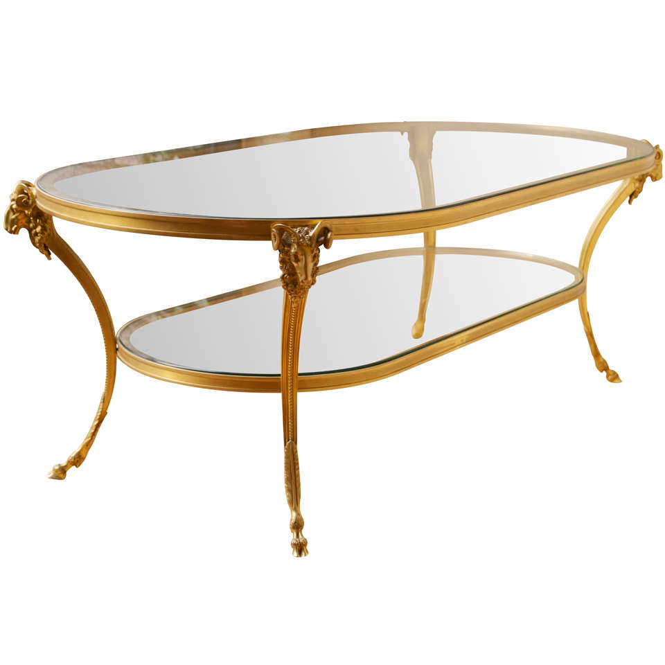 Bronze Coffee Table Nz: Maison JANSEN Bronze Cocktail Table At 1stdibs