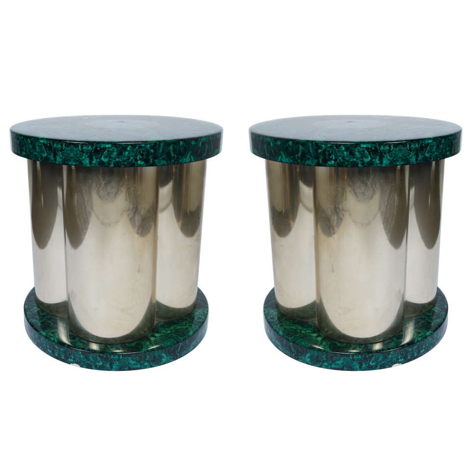 Great Pair of 1970s Side Tables