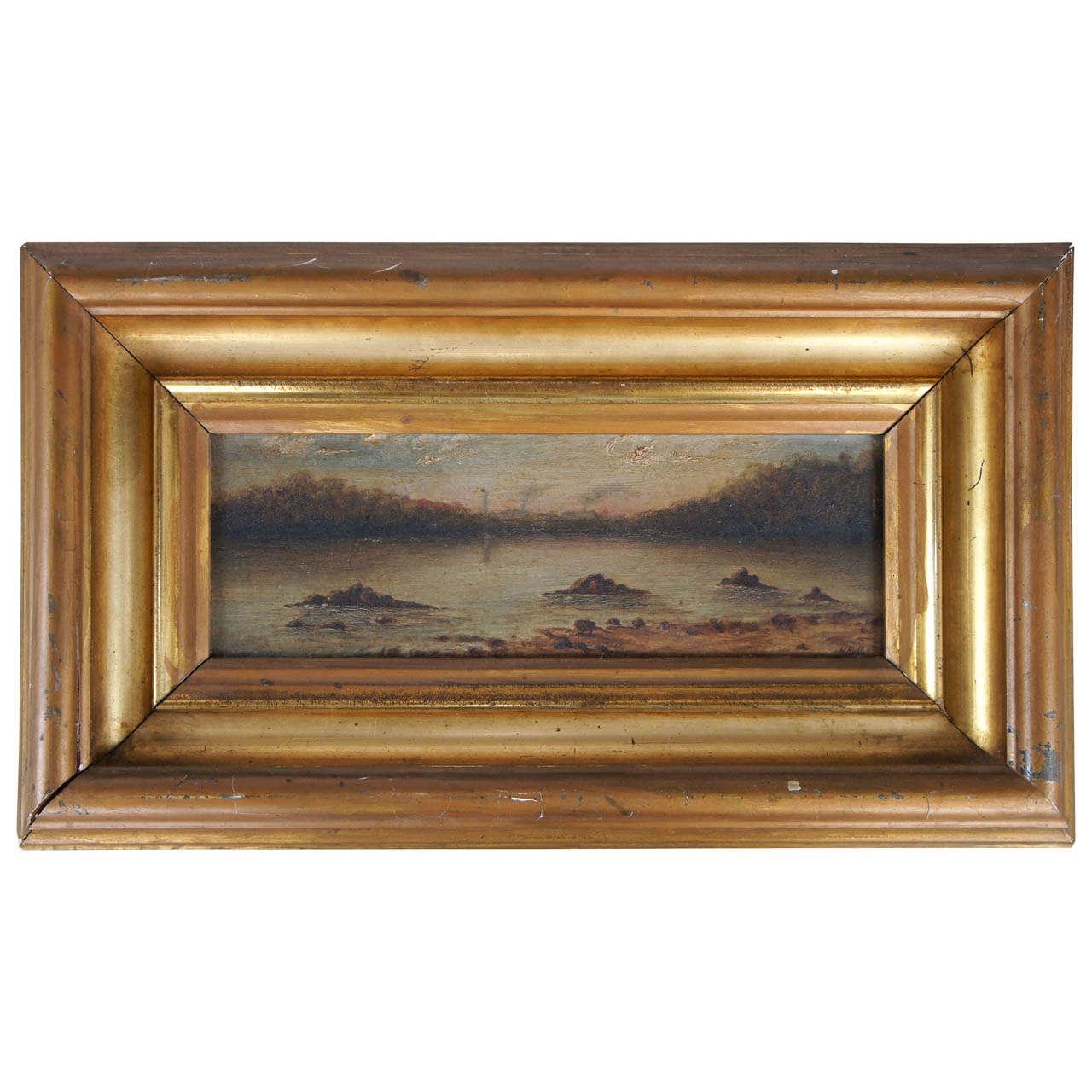 "Diminutive""River View"" Painting"