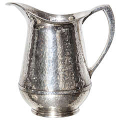Sheffield Plate Hand Hammered Pitcher