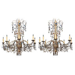 "Pair of Genovese ""Festival"" Chandeliers"