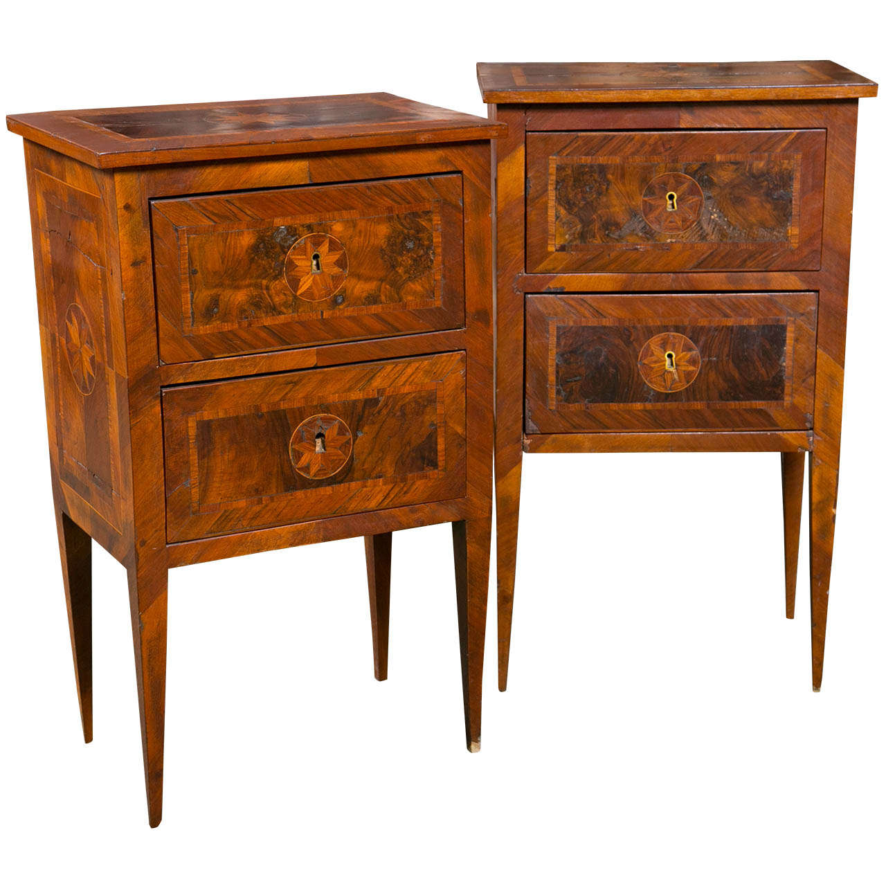 Pair of Late 18th Century Italian Bedside Tables For Sale at 1stdibs