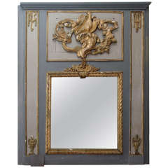 19th Century Louis XVI  Trumeau Mirror