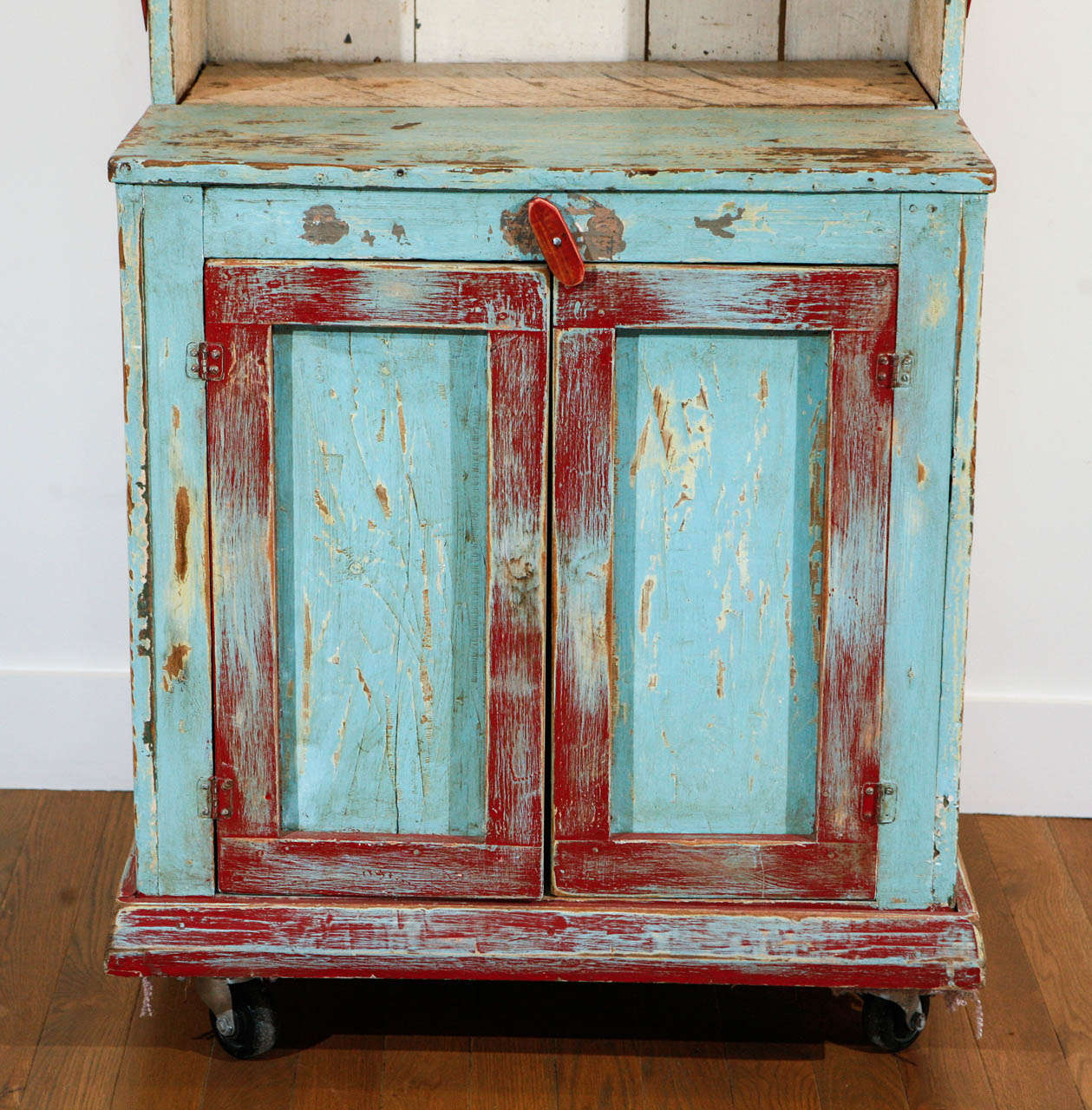 American Painted New Mexican Trastero 'Cupboard/Cabinet,' circa 1890-1910 For Sale