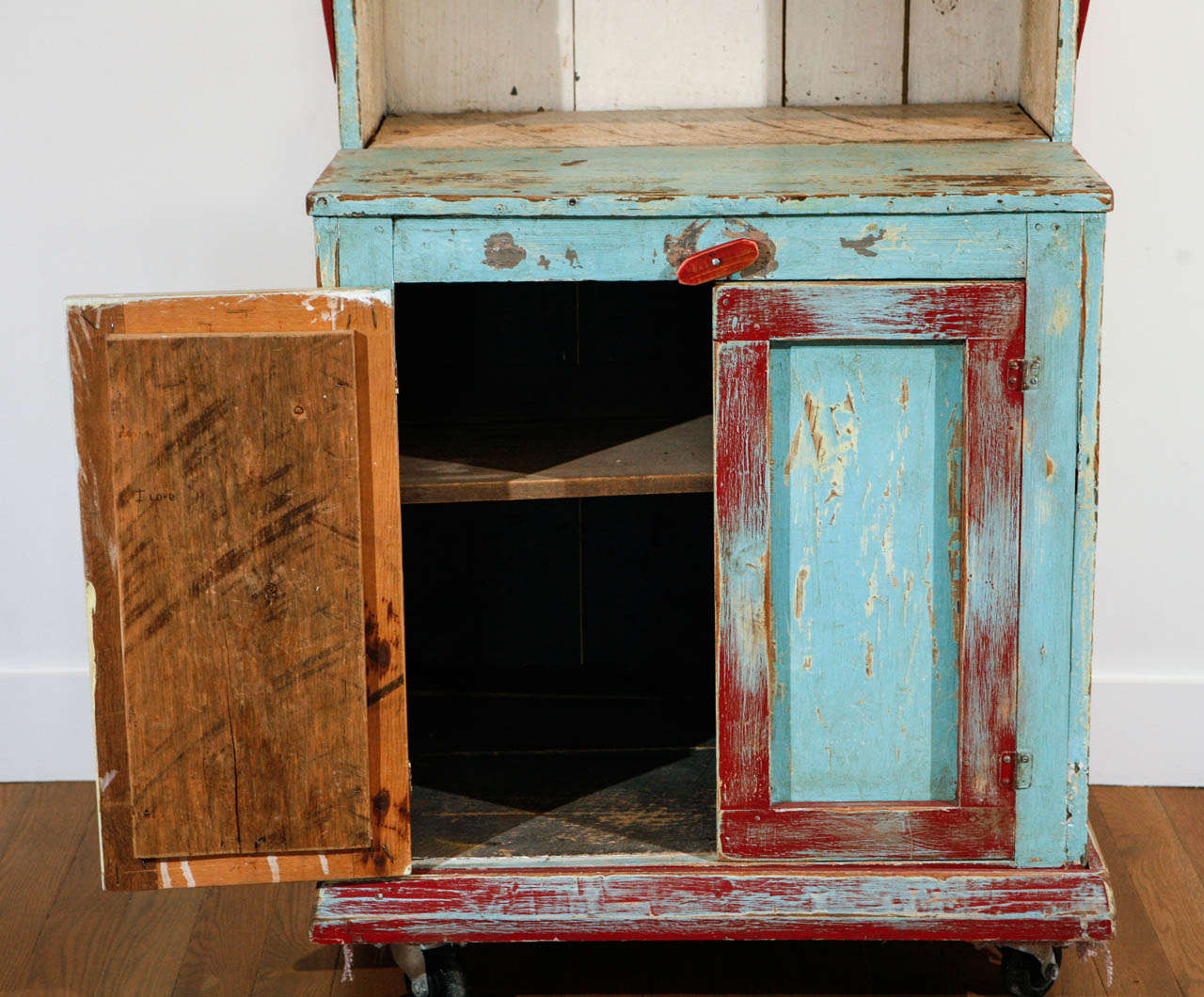 Painted New Mexican Trastero 'Cupboard/Cabinet,' circa 1890-1910 For Sale 1