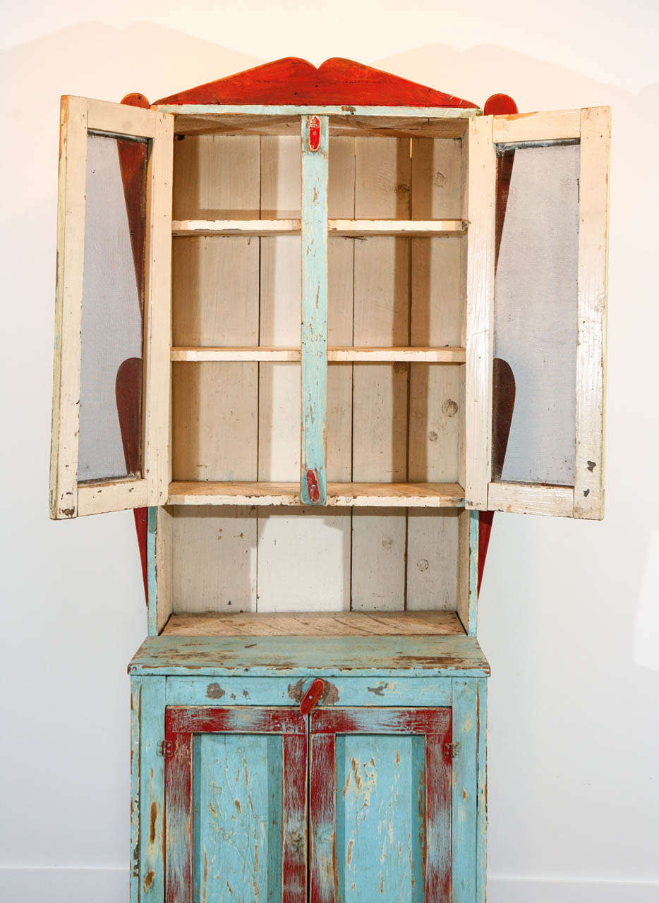 Painted New Mexican Trastero 'Cupboard/Cabinet,' circa 1890-1910 For Sale 2