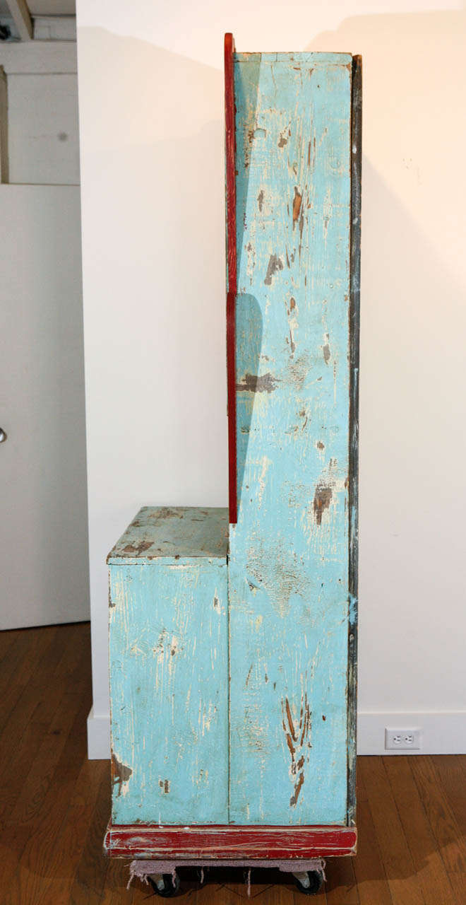 Painted New Mexican Trastero 'Cupboard/Cabinet,' circa 1890-1910 For Sale 3
