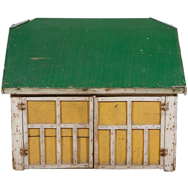 Early 20th Century, Model Barn or Garage, circa 1910-1930 For Sale