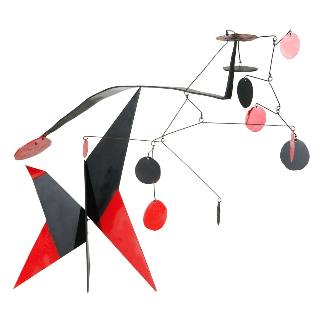French Painted Steel Mobile Sculpture