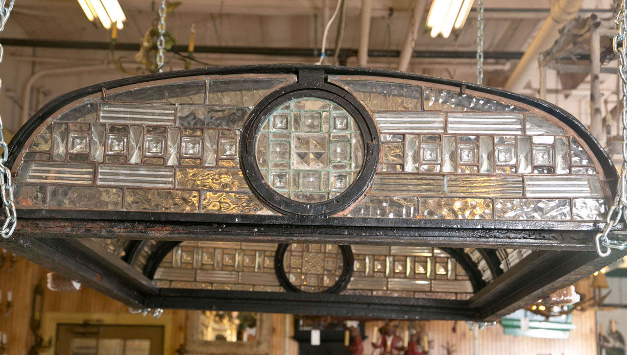 Antique Leaded Glass Skylight Dome For Sale 4
