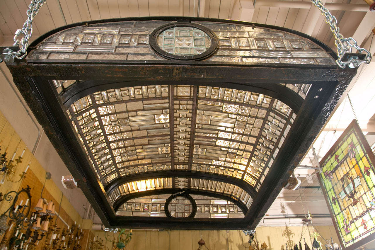 19th Century Antique Leaded Glass Skylight Dome For Sale