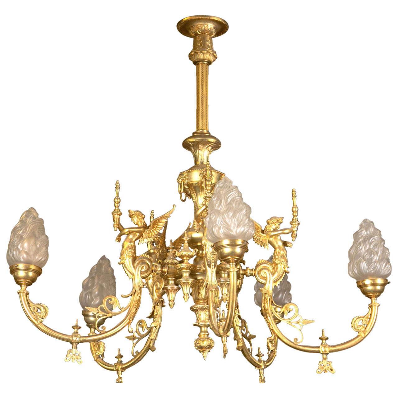 1920s antique bronze goddess chandelier for sale at 1stdibs 1920s antique bronze goddess chandelier 1 arubaitofo Gallery