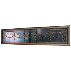 Antique Mercury Mosaic Stain Glass Windows