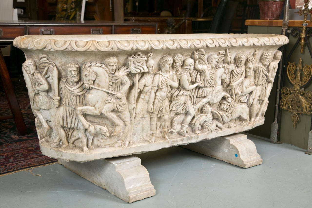 Vintage Roman Sarcophagus Style Marble Bath Tub For Sale At 1stdibs