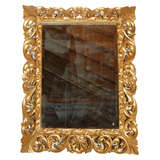 French 1920s 24K Gold Leaf Louis XV Style Mirror