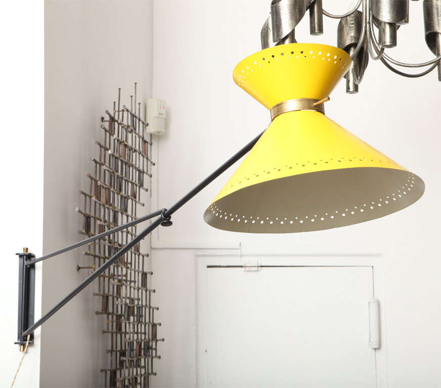 French 1950s Articulated Wall Sconce 2
