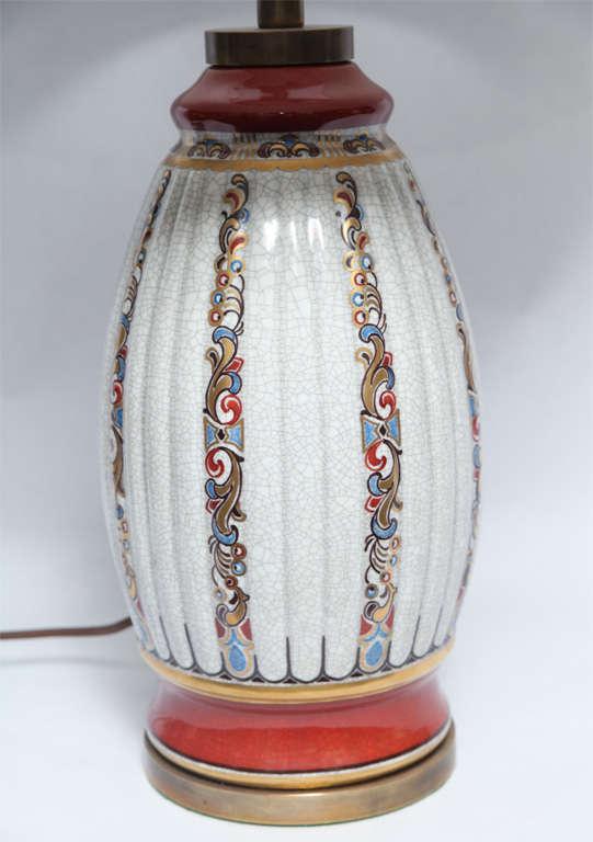 Danish Dal Jensen Table Lamps Pair Porcelain Art Deco Copenhagen, 1920s For Sale
