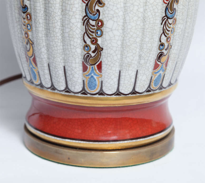 Dal Jensen Table Lamps Pair Porcelain Art Deco Copenhagen, 1920s In Good Condition For Sale In New York, NY