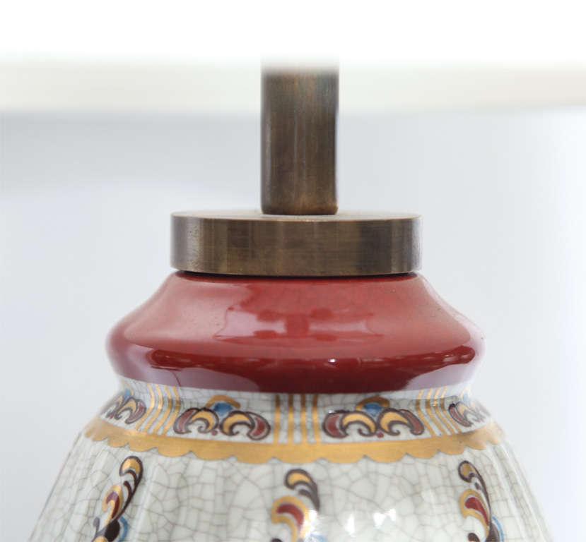 Mid-20th Century Dal Jensen Table Lamps Pair Porcelain Art Deco Copenhagen, 1920s For Sale