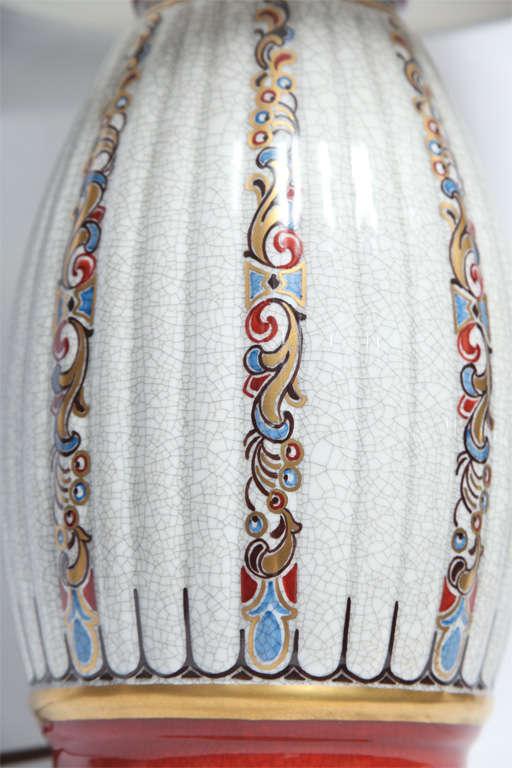 Dal Jensen Table Lamps Pair Porcelain Art Deco Copenhagen, 1920s For Sale 1