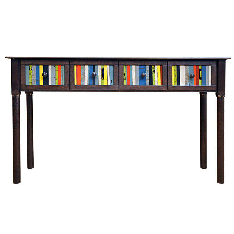 Jim Rose Quot Gee S Bend Quot Inspired 4 Drawer Strip Quilt Table