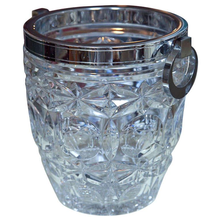 Elegant French Cut Crystal Ice Bucket