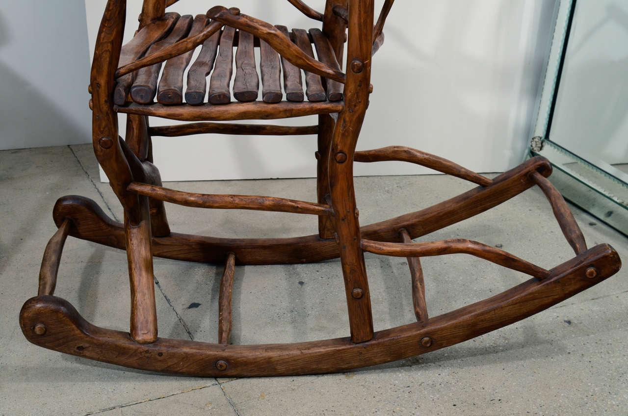 Red Rocking Chair Folk ~ Folk art rocking chair at stdibs