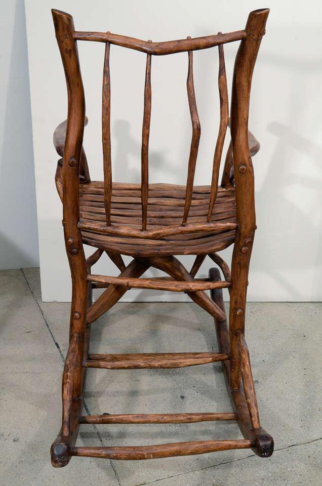 Red Rocking Chair Folk ~ Folk art rocking chair for sale at stdibs